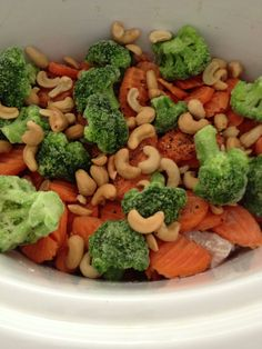 Cashew chicken-crock pot healthy meals.