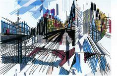 Gare de Austerlitz  © Nadir Afonso. Pablo Picasso, Nadir Afonso, Creative Illustration, Architecture, Portuguese, Fractals, Interior And Exterior, Abstract Art, Art Gallery