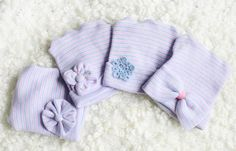 Boutique Hospital Hats for Baby Girl