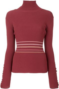 Roksanda frilled striped turtleneck sweater. Turtle-neck sweater fashions. I'm an affiliate marketer. When you click on a link or buy from the retailer, I earn a commission.