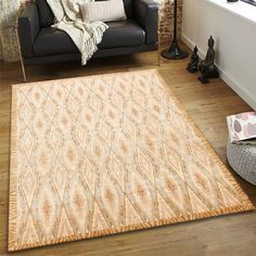 The distribution and usage of each shade, light and dark complimented each other making a classic piece perfect for interior design. #goldrugs #buygoldrugs #buygoldrugsonline #rugknots Round Area Rugs, Large Area Rugs, Golden Design, Oriental Design, Unique Rugs, Home Decor Styles, Cool Rugs, Rugs Online, Ikat