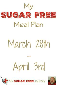 Here's this week's Sugar Free Meal plan, complete with FREE downloadable PDF of shopping lists and cooking instructions.  Let me help you kick the sugar out of your life!