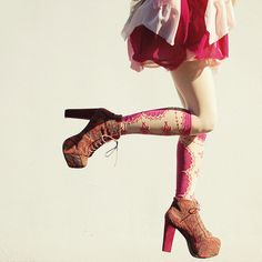 Pink Socks, Shoes, Skirt!