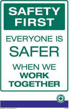 NSC Safety posters provide an effective first line of defense against workplace injuries and help establish a culture of safety. The posters measure and are printed on high-quality Safety Meeting, Lab Safety, Safety First, Safety Talk, Safety Quotes, Safety Slogans, Health And Safety Poster, Safety Posters, Prayer For Travel