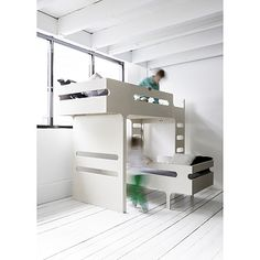 back in stock- set of two beds F&R from Rafa-kids in whitewash