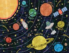 Super Solar System by Alice Feagan Graphic Art on Canvas