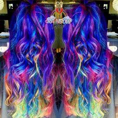 Bonita e Descolada do arco-íris Estilos de Cabelo - https://bompenteados.com/2017/11/23/bonita-e-descolada-do-arco-iris-estilos-de-cabelo