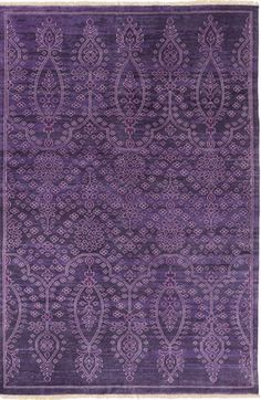 NEW violet antique washed 100% New Zealand wool rug from Surya (ATQ-1013).