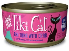 Tiki Cat Hana Grill Grain Free Ahi Tuna With Crab In Tuna Consomme Canned Cat Food