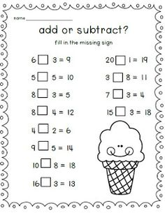 Add or subtract?  Students need to figure it out!  FREEBIE!