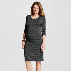 562de4d3e Liz Lange Maternity Dress Green Navy Stripe Nwt