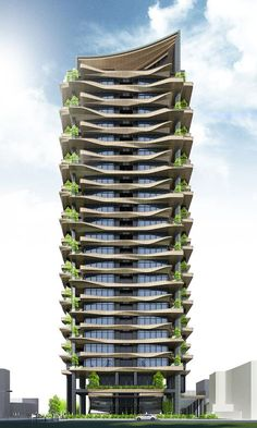 42 Ideas For Apartment Architecture Building Skyscrapers Modern Architecture House, Futuristic Architecture, Facade Architecture, Residential Architecture, Amazing Architecture, Residential Complex, Home Building Design, Tower Design, Great Buildings And Structures
