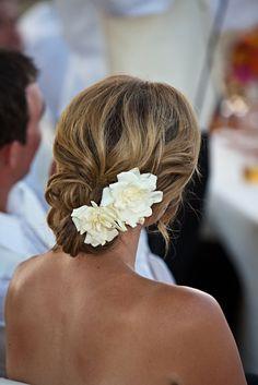 Love Gardenia's and so pretty in the hair.