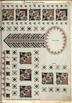 #rotexte: Cusături românești. Folk Embroidery, Learn Embroidery, Embroidery Patterns, Cross Stitch Patterns, Machine Embroidery, Antique Quilts, Pattern Books, Fabric Patterns, Cross Stitching