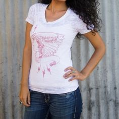 Soft and comfortable burnout jersey tee that fits just right!