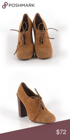 Tory Burch Bootie • Chunky heel • Size 5M • Brown  • Suede • Perfect Condition (worn once) Tory Burch Shoes Ankle Boots & Booties