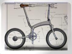 - by János Insperger Bicycle Art, Bicycle Design, Bike Sketch, Recumbent Bicycle, Winter Project, Big Wheel, Brompton, 3d Design, Mobiles