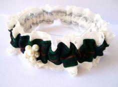 Garter Scottish Celtic Tartan Wedding lace Garter by NatalieBriggs, $74.00