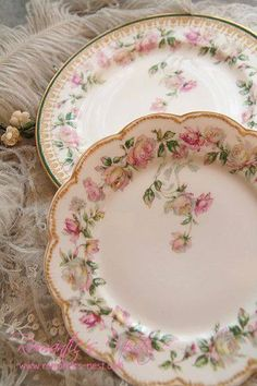 Vintage China ~ Plates ~ / Choose them with care.