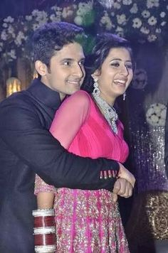 Sargun Mehta with husband Ravi Dubey Wedding Couple Photos, Wedding Couples, Ravi Dubey, Lahenga, Saree Dress, Actors & Actresses, Real Life, Husband, Photoshoot