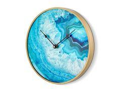Ceas Rotund Turcoaz 30 cm Clock, Metal, Decor, Green, Watch, Decoration, Clocks, Metals, Decorating