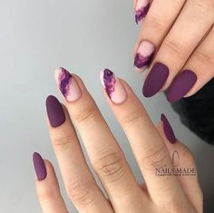 Mauve color nails are something unbelievably trendy in the world of modern nail art What is more, the shade itself is anything but ordinary, and that simply makes you try it out! All the best mauve colored nail art designs gathered in one place ju - # Elegant Nail Designs, Elegant Nails, Stylish Nails, Trendy Nails, Simple Nail Design, Dark Nail Designs, Easy Designs, Prom Nails, Long Nails
