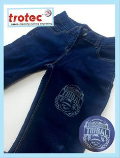 You can really make a Denim piece of clothing pop by engraving something personal onto it. Using only quality materials and the highest specification components, the machines that we produce provide years of efficient productivity and laser cutting of the highest quality by  Trotec Laser Machine. #trotec #machine #denim #engraving #awesome #contactus #altarkeez #dubai #sucess