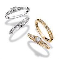 Dancing Shimmer Engagement Ring Set