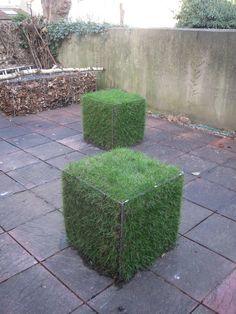 green gabion cubes