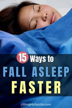 Take too long to fall asleep? Trouble staying asleep? Here are 15 natural ways to fall asleep quicker and sleep better. #sleep #sleepbetter #fitnesstips#getfittips #healthyliving #health #healthyliving #fitover40 #fitover50 #selfcare Ways To Sleep, How To Sleep Faster, Sleep Help, Sleep Better, Best Weight Loss, Weight Loss Tips, Bedtime Meditation, Ways To Fall Asleep, Natural Sleep Remedies