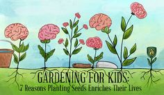 Nature is great for establishing good habits in your children. Outdoor activities include gardening - whether it be planting flowers in pots for a balcony, working in a community garden or right outside your backdoor. Read on for 7 data-driven reasons to get your kids out in the garden!