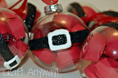 Craft Anyway!: Santa Belly Ornaments...EASY and ADORABLE Rustic Christmas Ornaments, Handmade Christmas, Christmas Holidays, Christmas Decorations To Make, White Christmas, Christmas Stuff, Christmas Ideas, Happy Holidays, Merry Christmas