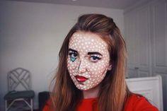 Halloween Pop Art Makeup Tutorial