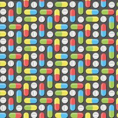 Pills and capsules fabric by petitspixels on Spoonflower - custom fabric