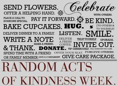 Random acts of kindness - Take one!