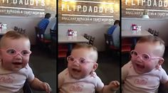 Little Girl Wears Glasses for the First Time and Sees Everything Clearly