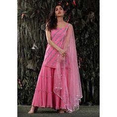 Lehenga Choli Designs, Sharara Designs, Kurti Designs Party Wear, Dress Indian Style, Indian Dresses, Indian Outfits, Sharara Suit, Salwar Kameez, Indian Attire