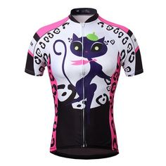 Uriah Women's Cycling Jersey Short Sleeve Cat Pink Size 5XL(CN). Size Notice: This is not standard US Size, size may run smaller than US size, please check the size chart on the product image and product description before placing the order; If you're not sure about the size, please feel free to contact us (Unit Conversion: 1Inch = 2.54cm; 1lb = 0.454kg). Sun Protection Breathable Fabric: 100% polyester; Strong moisture wicking ability,anti-UV rays and quick drying function. Three Back...