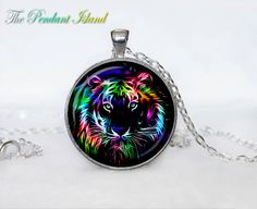 Tiger Necklace Tiger Pendant tiger jewelry  by ThePendantIsland, $13.50