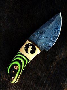 HANDMADE DAMASCUS steel FULL TANG HUNTING ( FANCY ) SKINNER WITH BEER WIRE CUT #HANDMADE