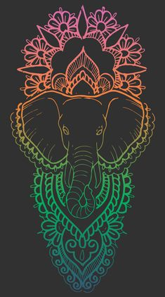 Elephant Mandala Unisex Tank Top by hollyastral Elephant Tattoo Design, Elephant Tattoos, Elephant Design, Mandala Elephant, Elephant Art, Mandala Drawing, Mandala Art, Dibujos Zentangle Art, Scratchboard Art