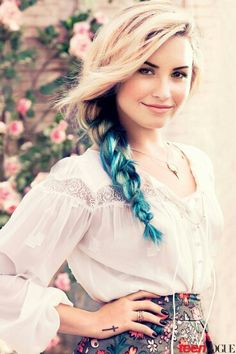 Demi. Love the blue braid