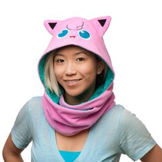When you don this Pokémon Jigglypuff Hooded Reversible Scarf you can sing people to sleep. Well, technically, you can do that already. It's just that you have a good excuse if you're pretending to be everybody's favorite balloon Pokémon. Pokemon Jigglypuff, Pokemon Fan, Geek Bag, Pokemon Merchandise, Pokemon Gifts, Xmas Wishes, Pajama Party, Unique Outfits, Geek Culture