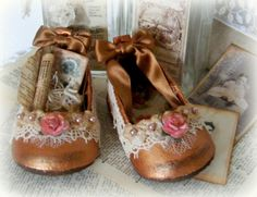 Altered Baby Shoes  by yitte