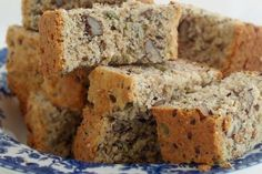 Healthy Banana Bread (Low fat/low sugar recipe made with agave and applesauce) (Low Carb Kuchen Apfelmus) Low Sugar Recipes, No Sugar Foods, Banana Bread Recipes, Diabetic Recipes, Agaves, Scones, Rusk Recipe, Recipe For Rusks, Kos
