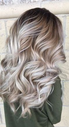 Brown Ombre Hair, Brown Blonde Hair, Ombre Hair Color, Hair Color Balayage, Blonde Color, Blonde Balayage, Ombre Style, Blonde Curls, Blonde Fall Hair Color