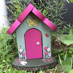 A new Fairy Door has appeared in the Rainbow Cottage Garden!