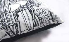 New York New York  Decorative Pillow Cushion Cover  by kLuxdeco