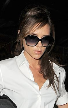 Victoria Beckhams low and loose ponytail