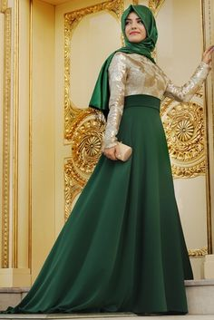 Green hijab party dress I love it❤ what do you think yay or nay   0d9600a76
